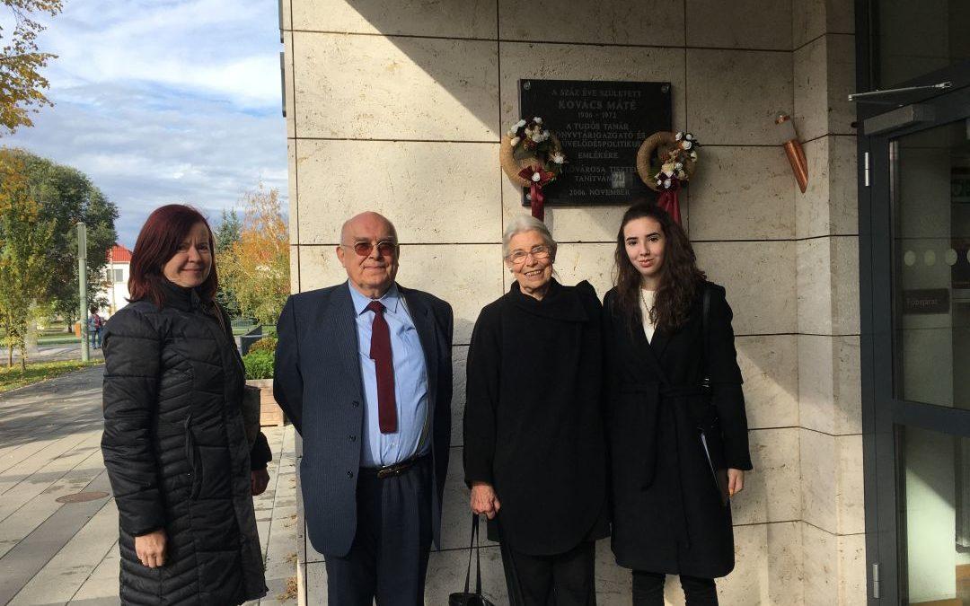 Emlékezés Kovács Mátéra, városi könyvtárunk névadójára