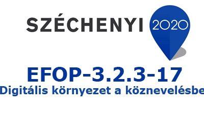 Újabb eszközök érkeztek az EFOP-3.2.3-17 Digitális környezet fejlesztés pályázat keretében